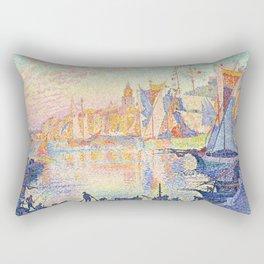 The Port of Saint-Tropez, Paul Signac, 1901 Rectangular Pillow