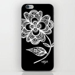 White Flower 105 iPhone Skin