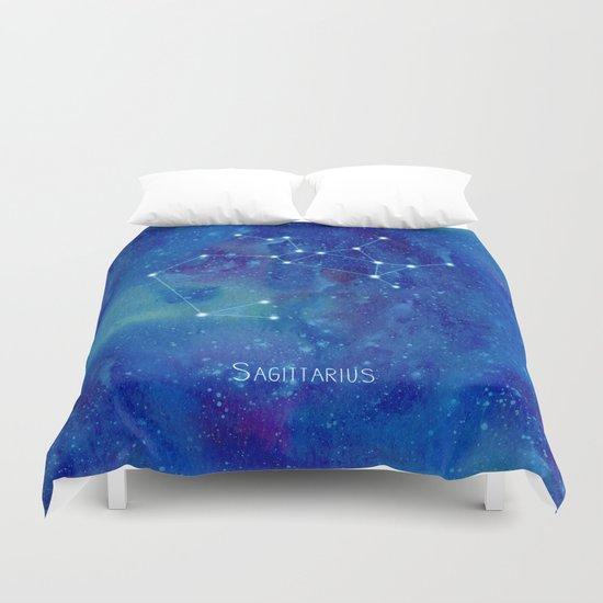 Constellation Sagittarius  Duvet Cover
