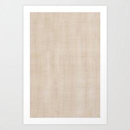 Pantone Hazelnut Dry Brush Strokes Texture Pattern Art Print