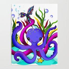 Octopus illustration Poster