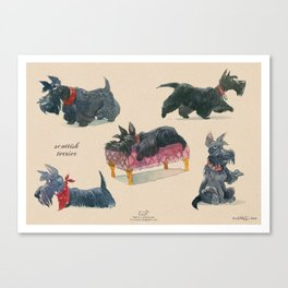 Scottish Terriers Canvas Print