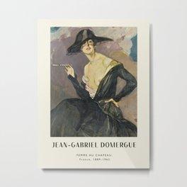Poster-Jean-Gabriel Domergue-Femme au chapeau. Metal Print