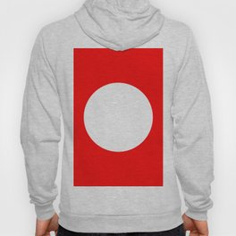 White circle on red Hoody