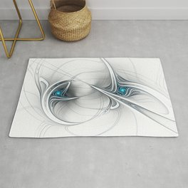Come Together, Abstract Fractal Art Rug