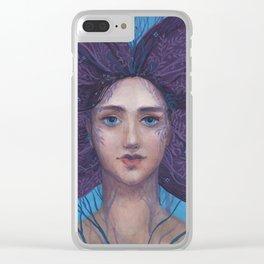 Primavera Fantasy Art Spring Goddess Clear iPhone Case