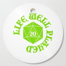 d20 Life Well Played Crit Cutting Board