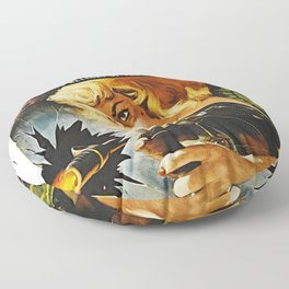 Cigar Smoking Hellcat of the Roaring Thirties Floor Pillow