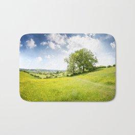 Idyllic Cotswold Summer Landscape Bath Mat