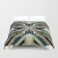 power rangers Duvet Covers featuring Power by David Lee
