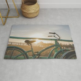 Bike & Beach in Sunny Manhattan Beach, California Rug