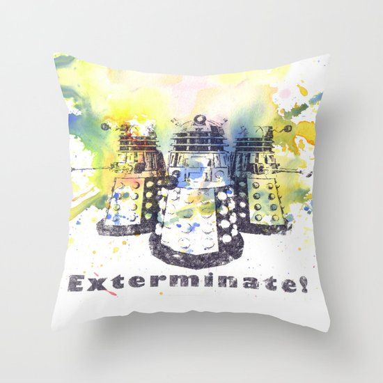 Daleks From Doctor Who Throw Pillow By Idillard Society6