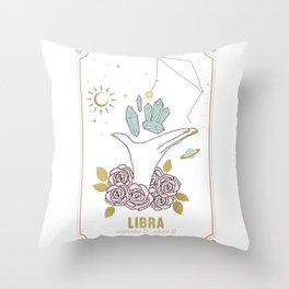 Libra Zodiac Series Throw Pillow