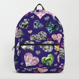 Heart Diamonds are Forever Love Violet Backpack
