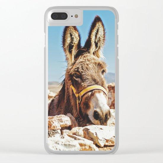 Donkey photo Clear iPhone Case