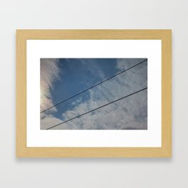 clouds and wire, abstract, no.03 Framed Art Print