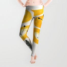 Yellow Poppies Leggings
