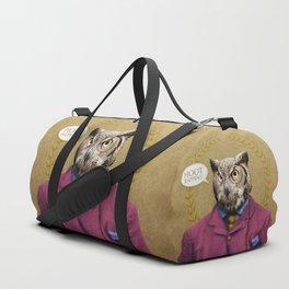 "Mr. Owl says: ""HOOT Happens!"" Duffle Bag"