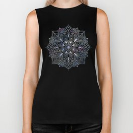Marble Mandala - Purple Blue Rose Gold Biker Tank