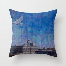 7th Street Sparrow Throw Pillow