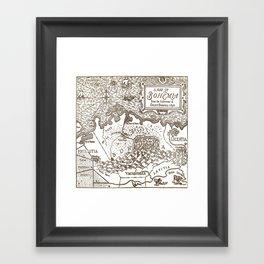 Map of Bohemia Framed Art Print