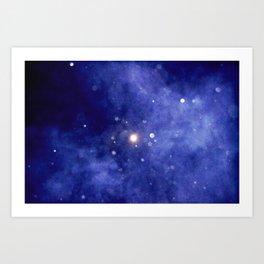 Purple Night Sky Art Print
