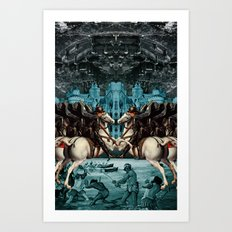 SERFS UP Art Print