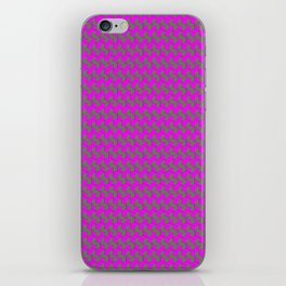 fiolent gray iPhone Skin
