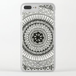 Mandala3 Clear iPhone Case