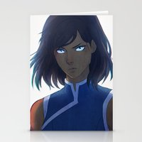 legend of korra Stationery Cards featuring Korra by Nymre