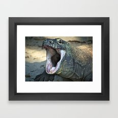 Open Wide Framed Art Print