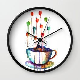 Coffee Splash Wall Clock