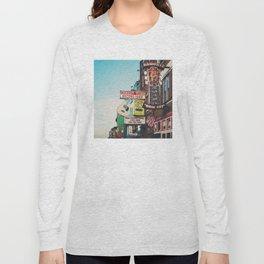 Lower Broadway, Nashville print  Long Sleeve T-shirt