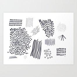 Abstract Marks Nr 2 Art Print