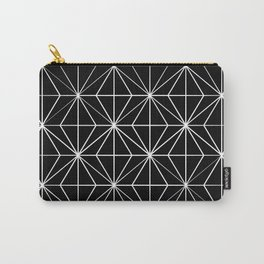 Geometric Pattern Black and White Carry-All Pouch