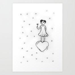 Love, Bubbles Art Print