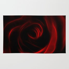 Eternal love red rose Rug