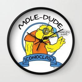 Mole-Dude Wall Clock