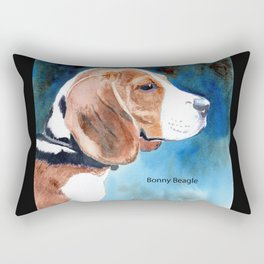 Bonny Beagle Rectangular Pillow