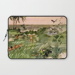 """Classical Masterpiece """"Egyptian Fowlers Clap-net"""" by Herbert Herget. Laptop Sleeve"""