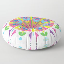 The Psychedelic Kaleidoscope of an Exploding Piñata Floor Pillow