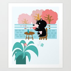 Drink a cup of coffee Art Print