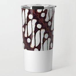 the parang batik pattern Travel Mug