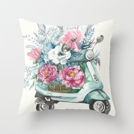 flower delivery Throw Pillow