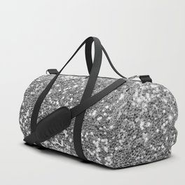 Chic faux silver abstract sequins glitter modern pattern Duffle Bag