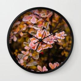 Winter roses Wall Clock