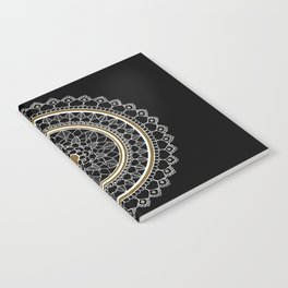 Black and Gold Mandala Notebook