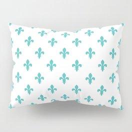 Fleur-de-Lis (Teal & White Pattern) Pillow Sham
