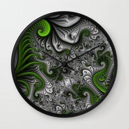 Fantasy World, abstract Fractal Art Wall Clock