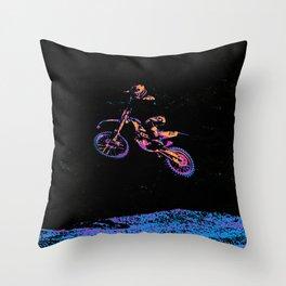 AIR TIME - Motocross Sports Art Throw Pillow